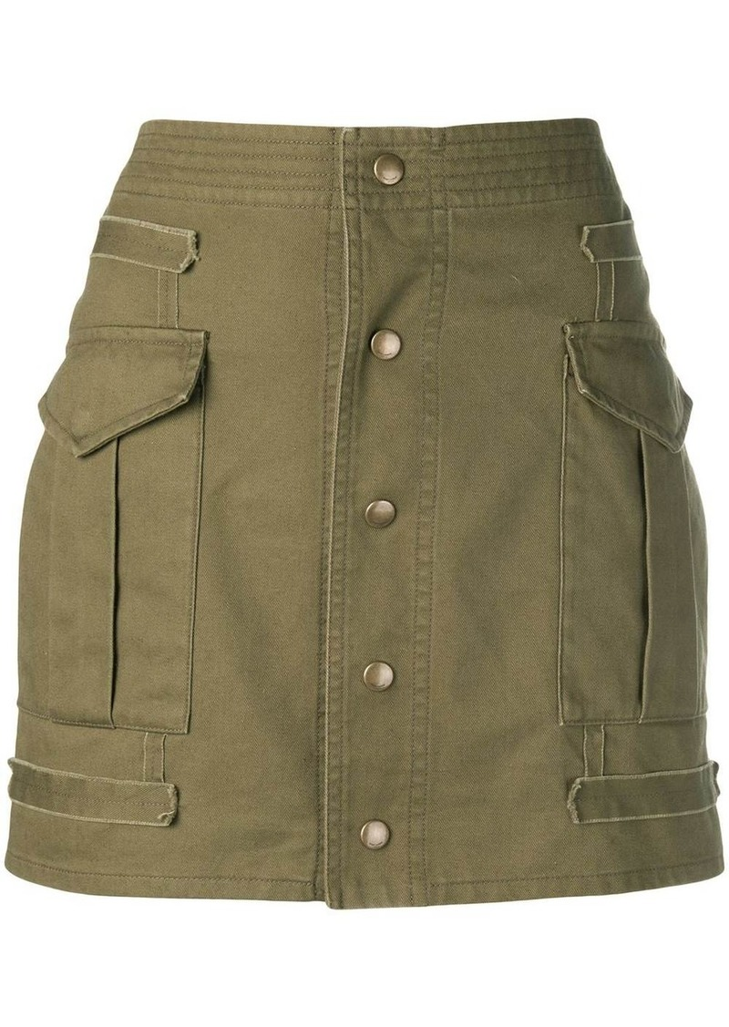 Saint Laurent button-down mini skirt
