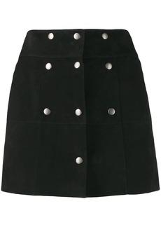 Saint Laurent button panelled mini skirt