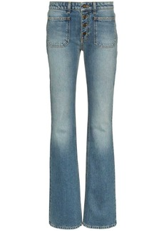 Saint Laurent button up flared jeans