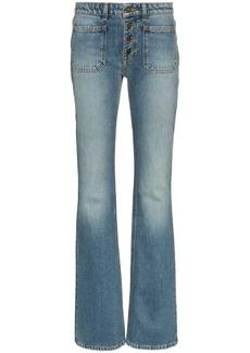 Saint Laurent button up flared jeans