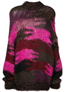 Saint Laurent camouflage jacquard knit jumper