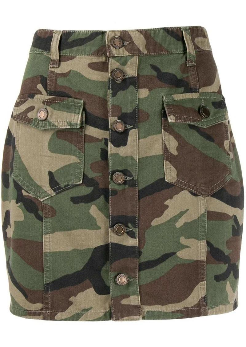 Saint Laurent camouflage print mini skirt