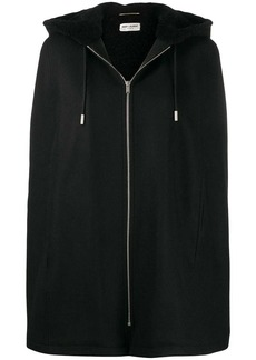 Saint Laurent cape-style hooded jacket