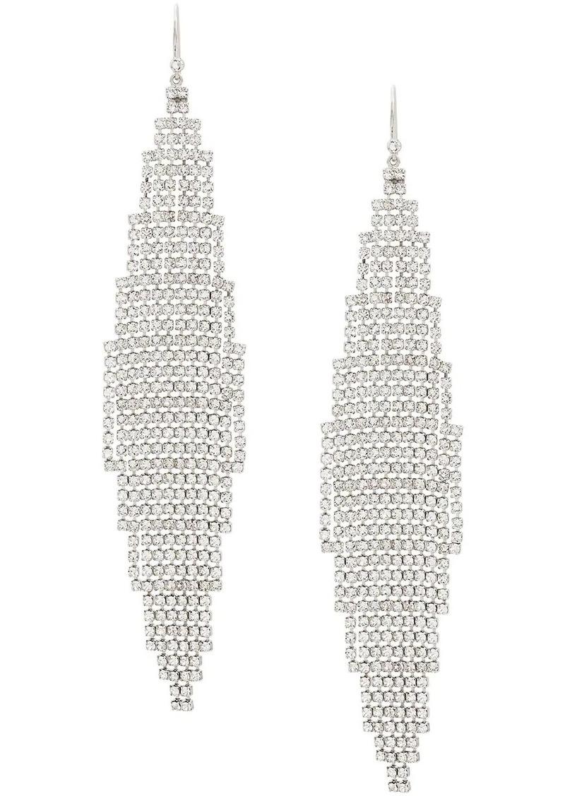 Saint Laurent cascade encrusted earrings