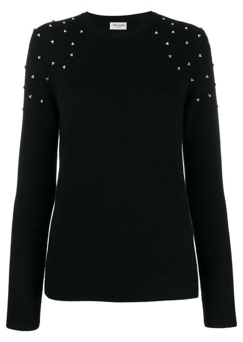 Saint Laurent cashmere crystal-embellished sweater