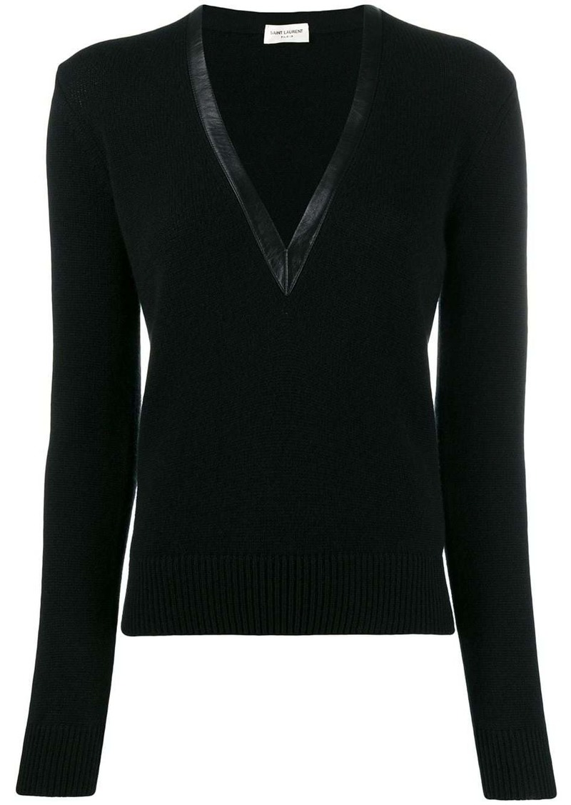 Saint Laurent cashmere v-neck sweater