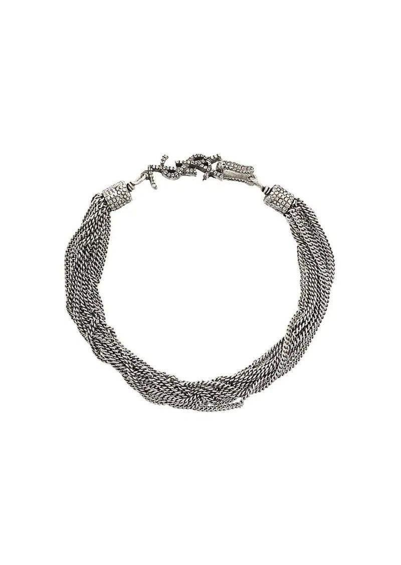 Saint Laurent chain logo bracelet