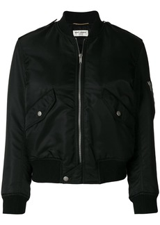 Saint Laurent classic zipped bomber jacket