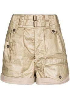 Saint Laurent coated linen shorts