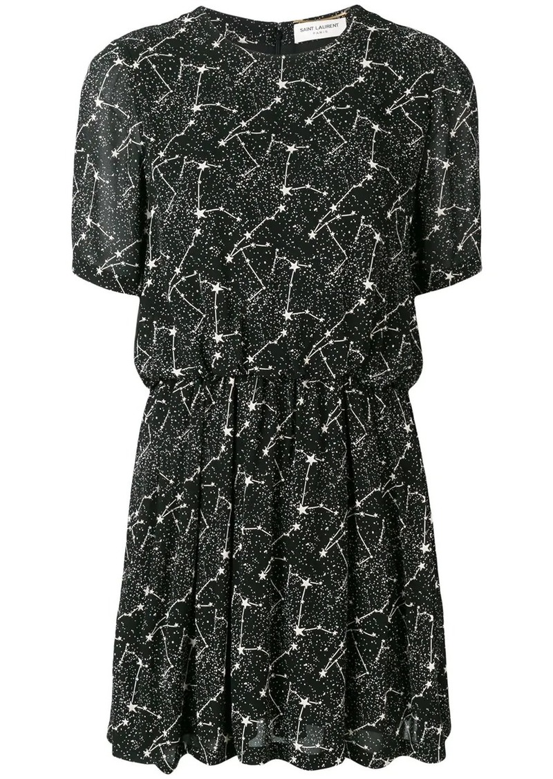 Saint Laurent Constellation print dress