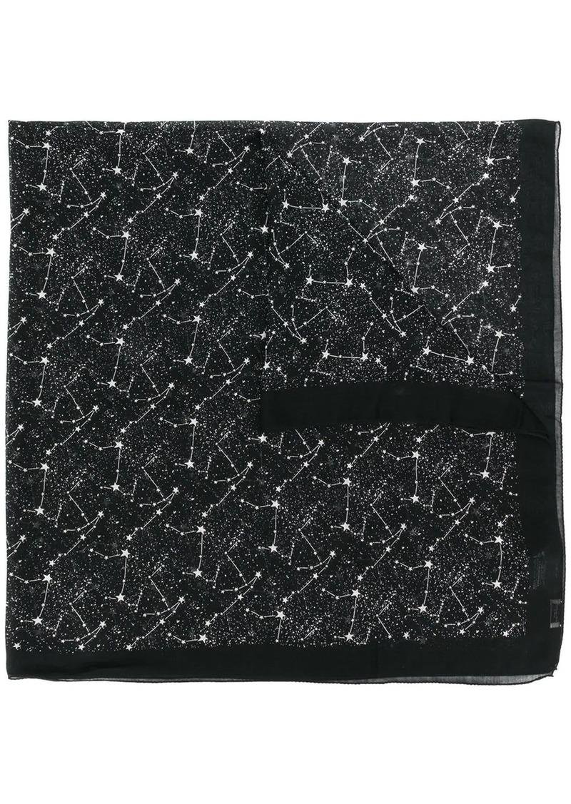 Saint Laurent constellation print scarf