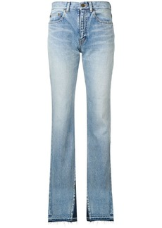 Saint Laurent contrast flared jeans