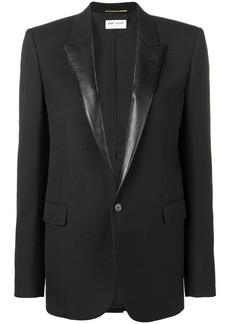 Saint Laurent contrast lapel blazer