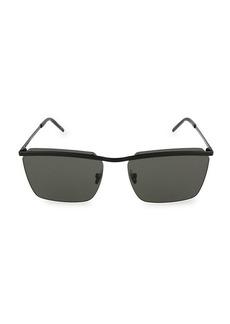 Saint Laurent Core 60MM Square Metal Sunglasses