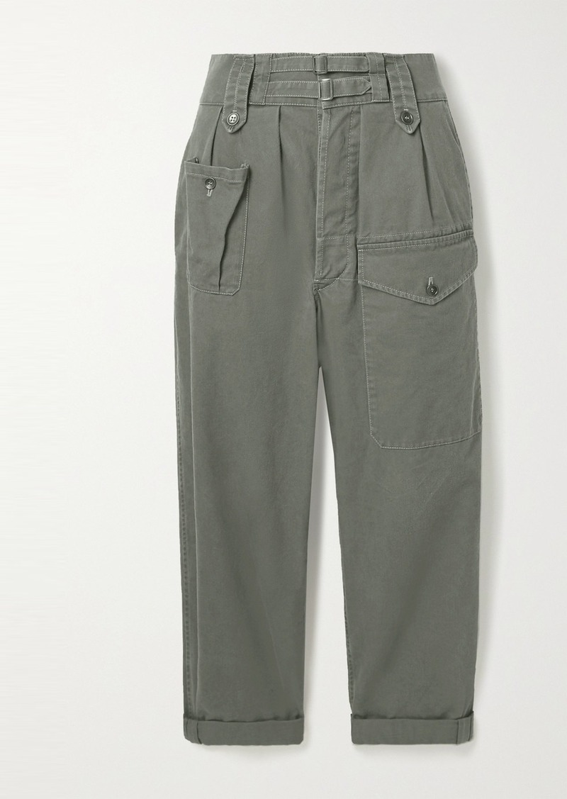 Saint Laurent Cotton And Ramie-blend Drill Cargo Pants