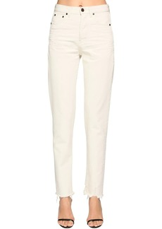 Saint Laurent Cotton Denim Straight Jeans