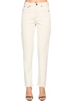 Saint Laurent Cotton Denim Straight Jeans