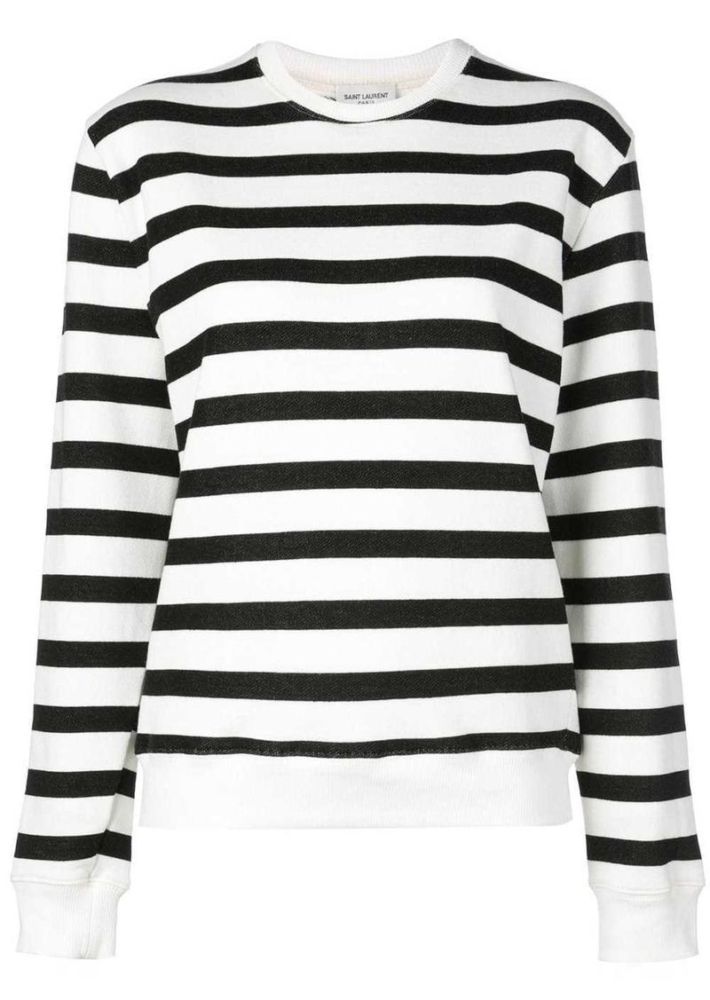 Saint Laurent crew neck striped sweatshirt