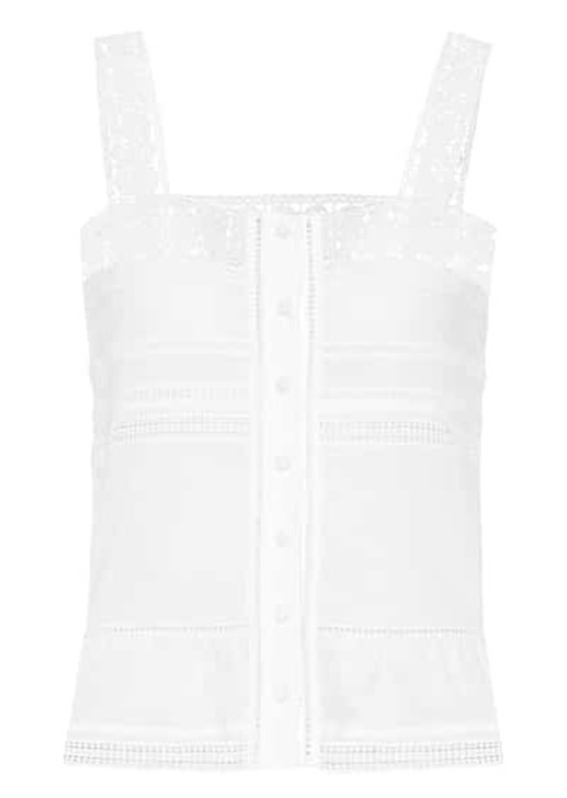 Saint Laurent Crochet-trimmed top