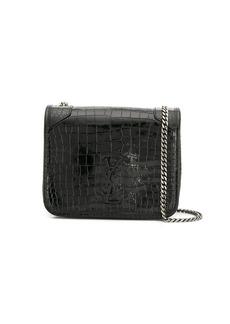 Saint Laurent Niki crocodile-effect wallet on chain