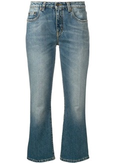 Saint Laurent cropped bootcut jeans