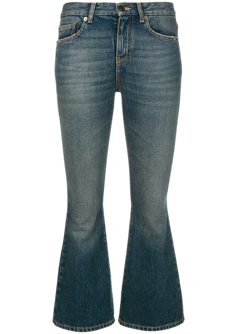 Saint Laurent cropped bootcut jeans
