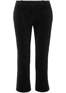 Saint Laurent Cropped Cotton-corduroy Flared Pants