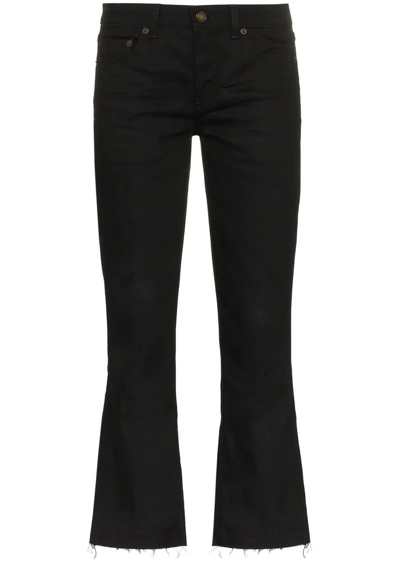 Saint Laurent cropped flared jeans
