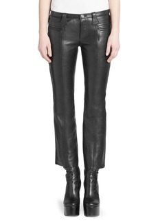 Saint Laurent Cropped Kickflare Leather Pants