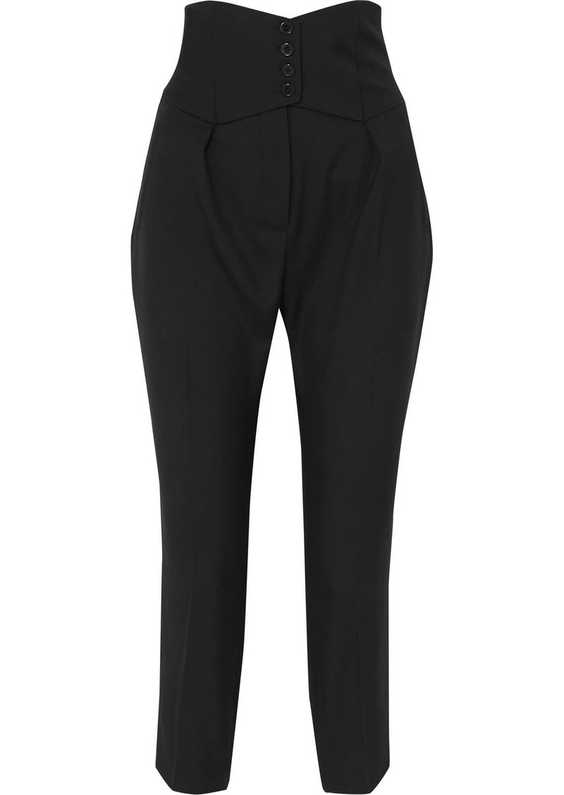Saint Laurent Cropped Slim-leg Pants
