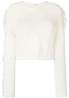 Saint Laurent cropped tassel sweater