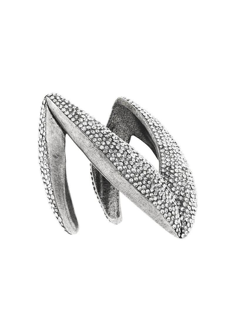 Saint Laurent crystal chevron bracelet