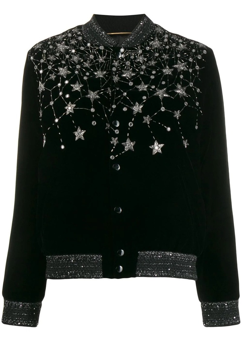 Saint Laurent crystal embroidered cardigan