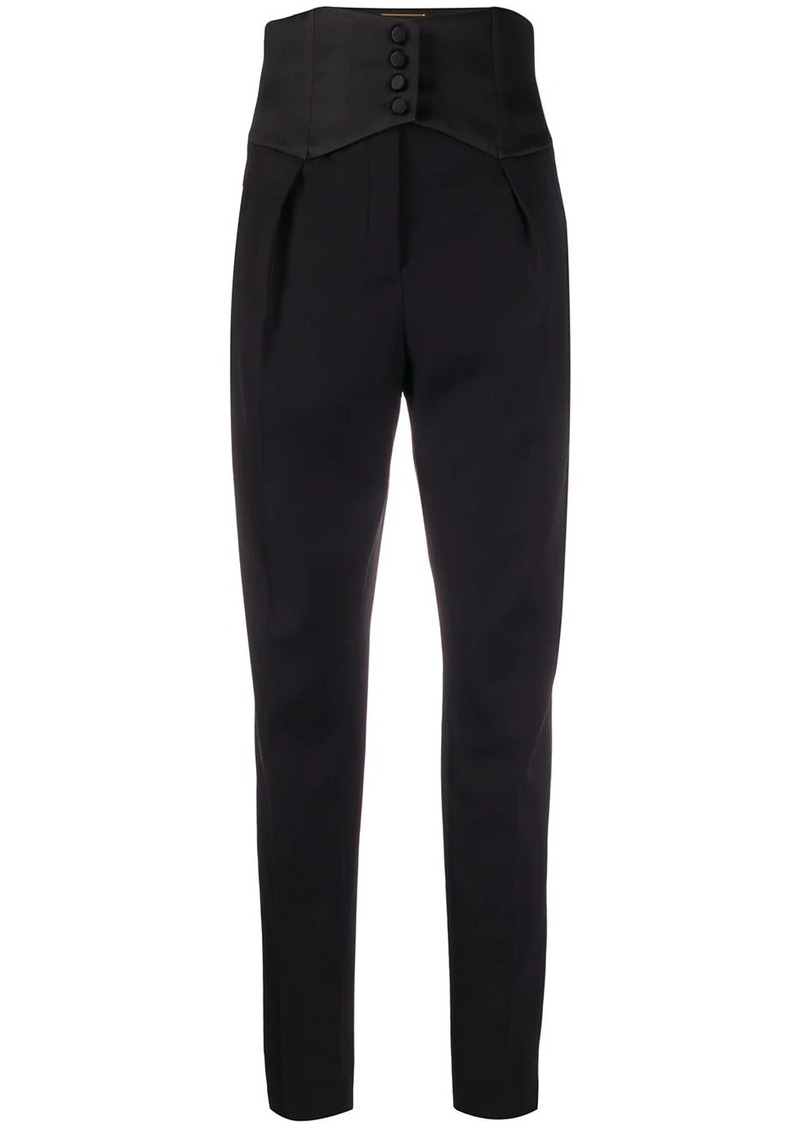 Saint Laurent cummerbund detail trousers