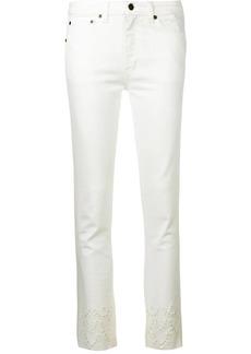Saint Laurent decorative perforations skinny jeans