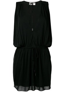 Saint Laurent deep V neck dress
