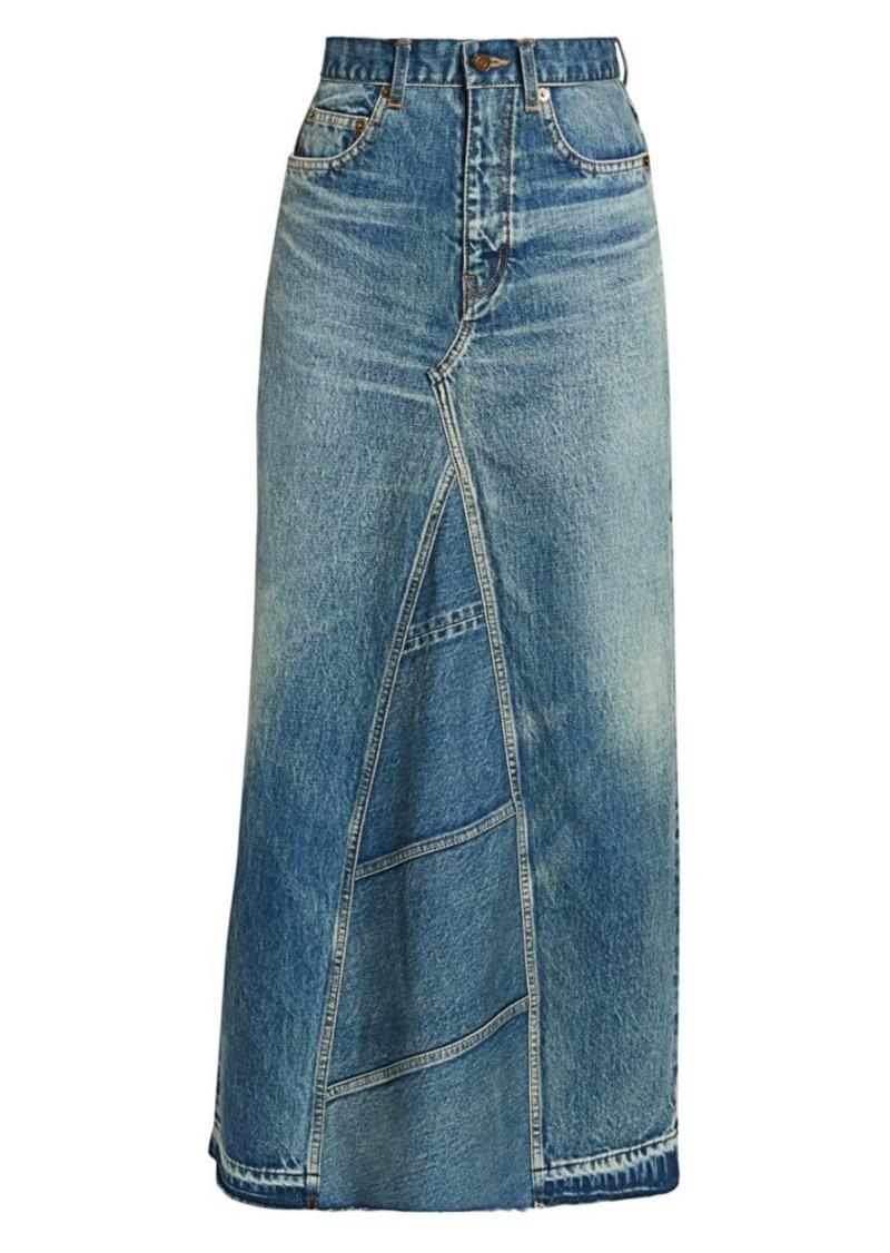 Saint Laurent Denim Maxi Skirt