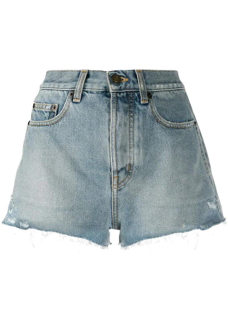 Saint Laurent denim short shorts
