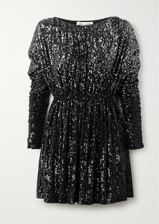 Saint Laurent Dégradé Sequined Stretch-knit Mini Dress