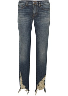 Saint Laurent Distressed Boyfriend Jeans