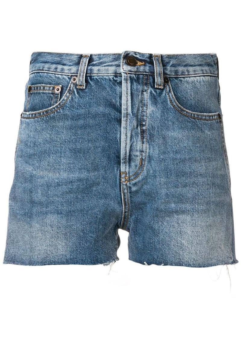 Saint Laurent distressed edge shorts