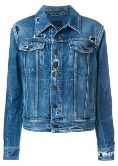 Saint Laurent distressed effect denim jacket