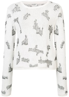 Saint Laurent distressed effect knitted jumper