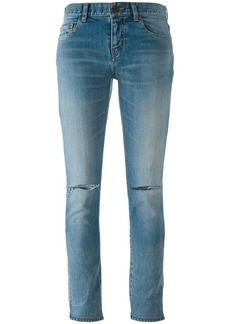 Saint Laurent distressed skinny fit jeans