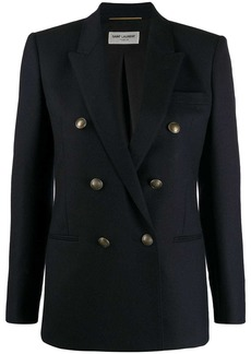 Saint Laurent double breasted fitted blazer