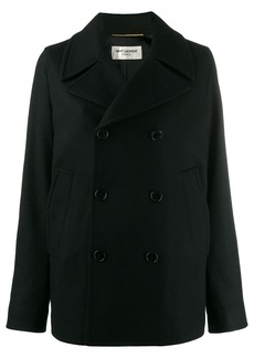 Saint Laurent double breasted pea coat