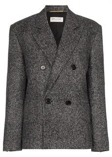 Saint Laurent double-breasted tweed blazer