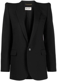 Saint Laurent dramatic shoulders blazer