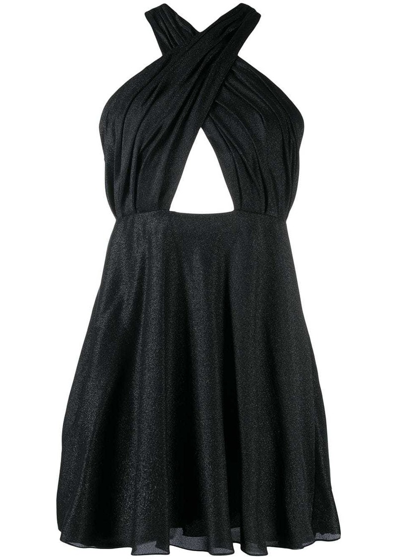 Saint Laurent draped crisscross short dress