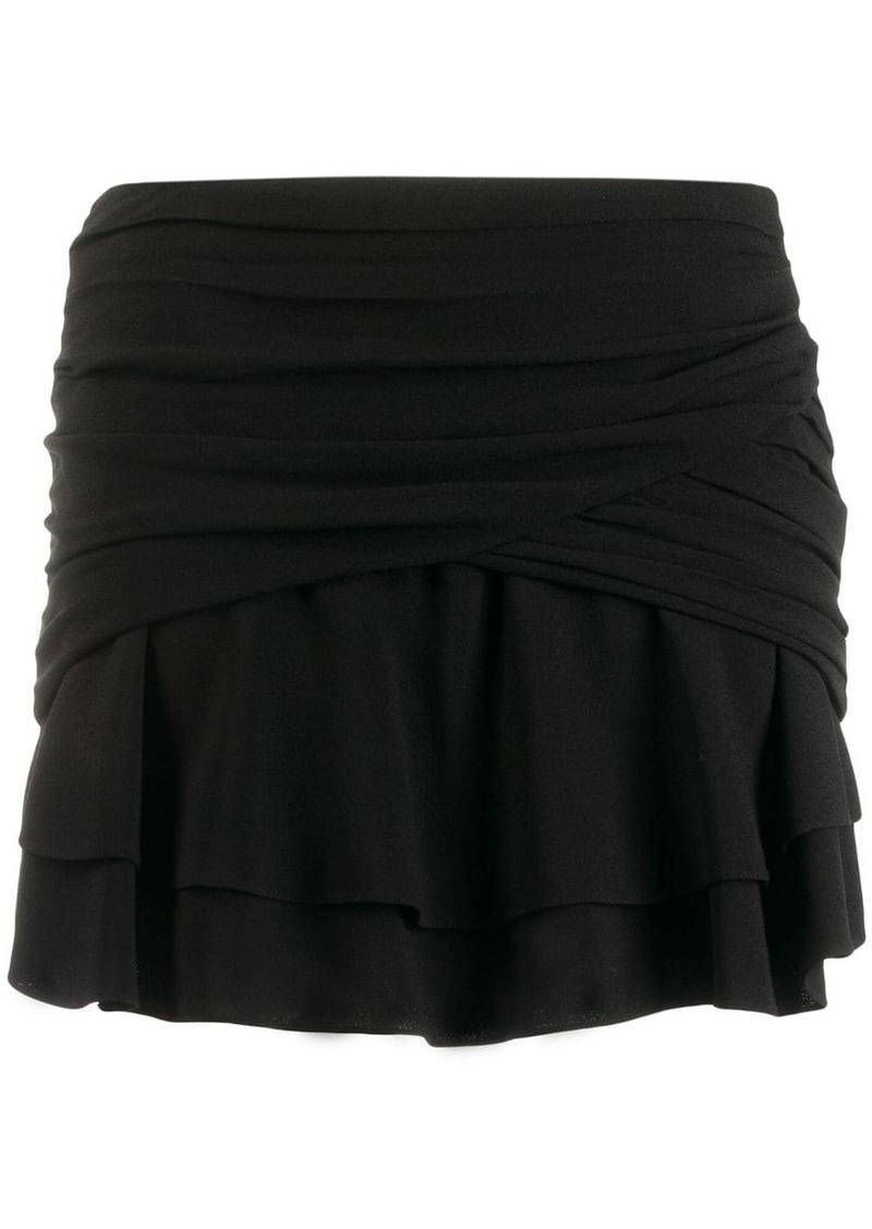 Saint Laurent draped mini skirt